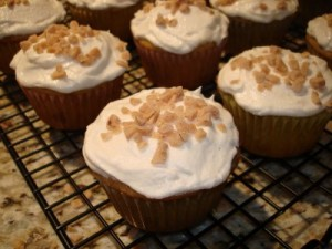 Cream Soda Toffee Cupcakes With Buttermilk Brown Butter