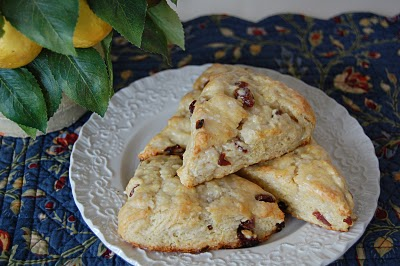 Cherry Lemon Scones and a giveaway!