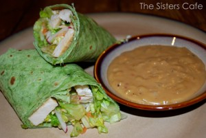 Chicken Wraps with Creamy Asian Peanut Sauce