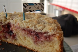 Raspberry Cream Cheese Coffeecake and WINNERS