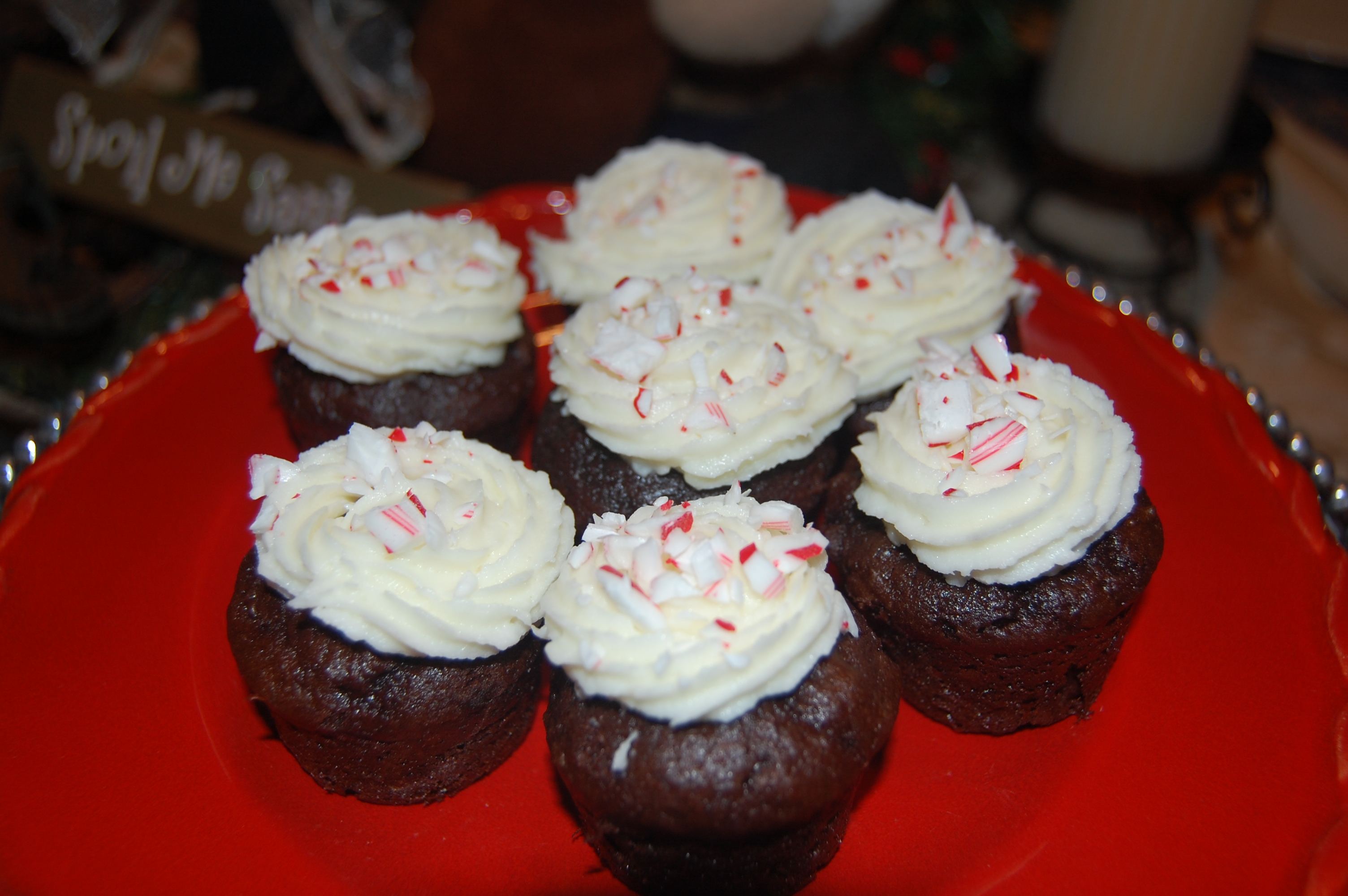 Double Chocolate Cupcakes with White Chocolate Frosting and a ...