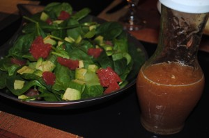 Grapefruit and Avocado Salad with Grapefruit Vinaigrette