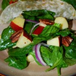 Spinach Apple and Pecan Salad