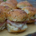 Hot Ham and Swiss Sliders