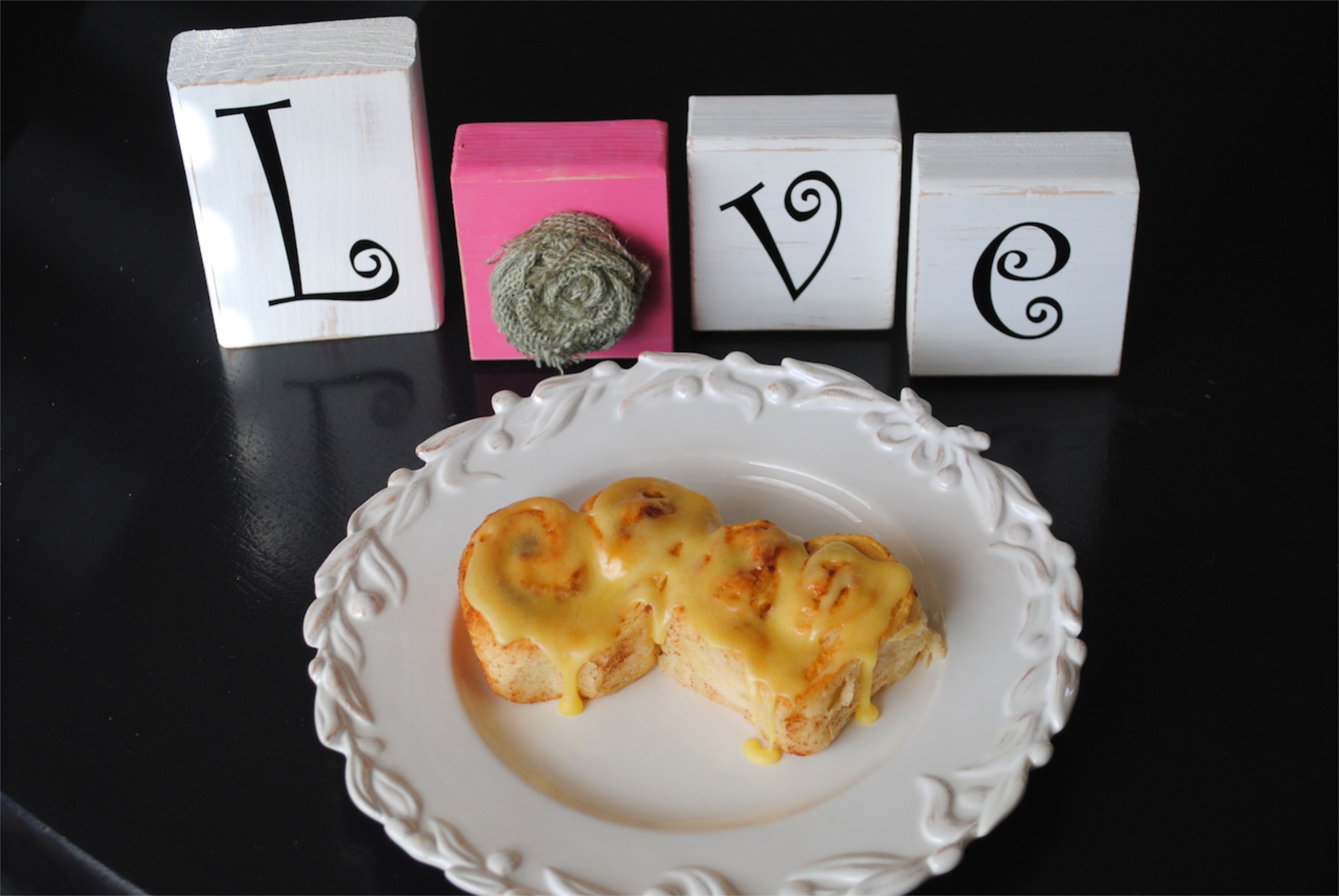 Heart Shaped Cinnamon Rolls for Valentine's Day