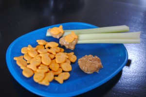 Kids in the Kitchen: Celery Fishing Poles and Gold Fish