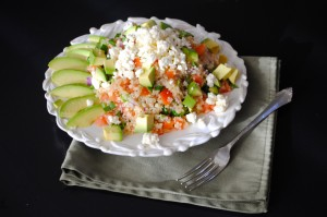 Greek Quinoa with Avocados