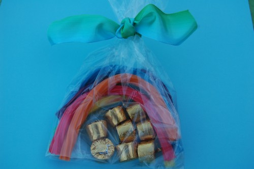 St Patricks Day Treat: Rainbow in a Bag