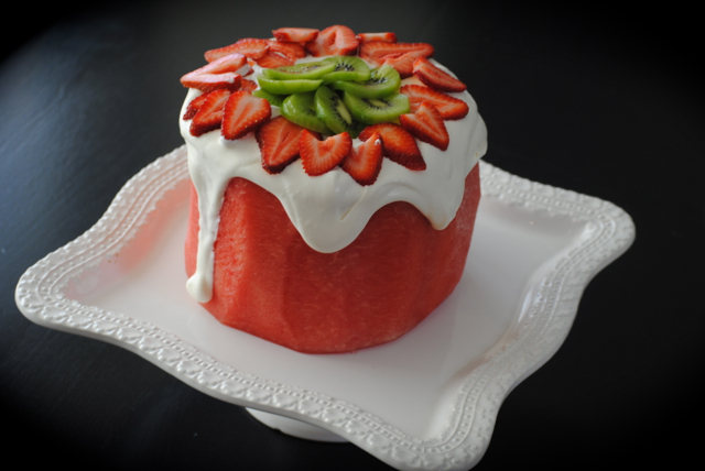 Fresh Watermelon Cake Literally