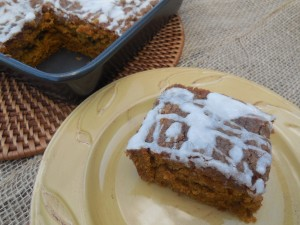 Pumpkin Coffeecake with a Vanilla Glaze