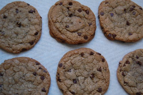 Crispy Almond chocolate Chip Cookies