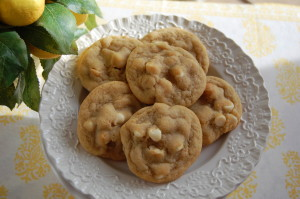 White Chocolate Lime Macadamia Nut Cookies