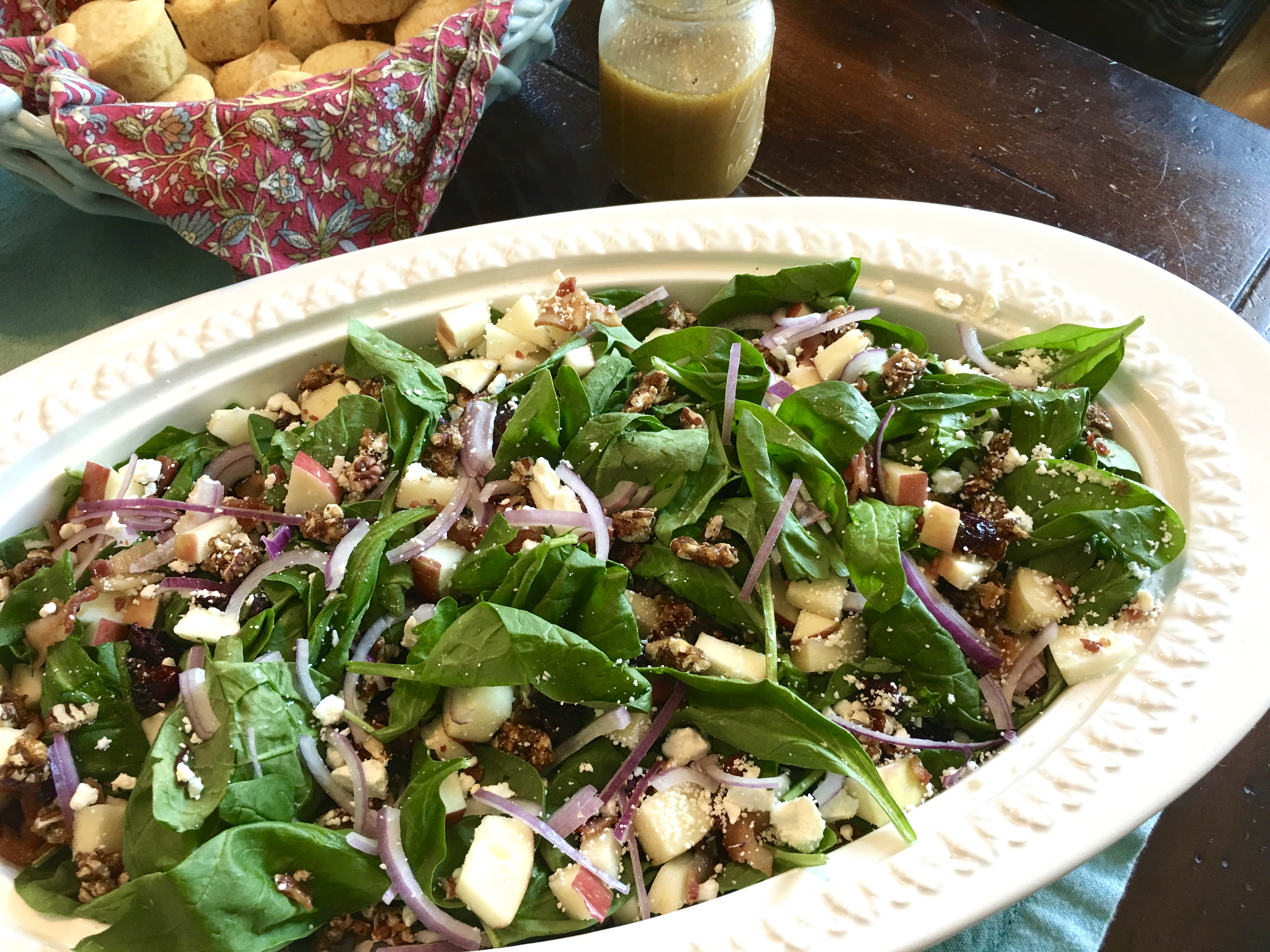 Sweet and Spicy Autumn Salad with Apple Cider Vinaigrette
