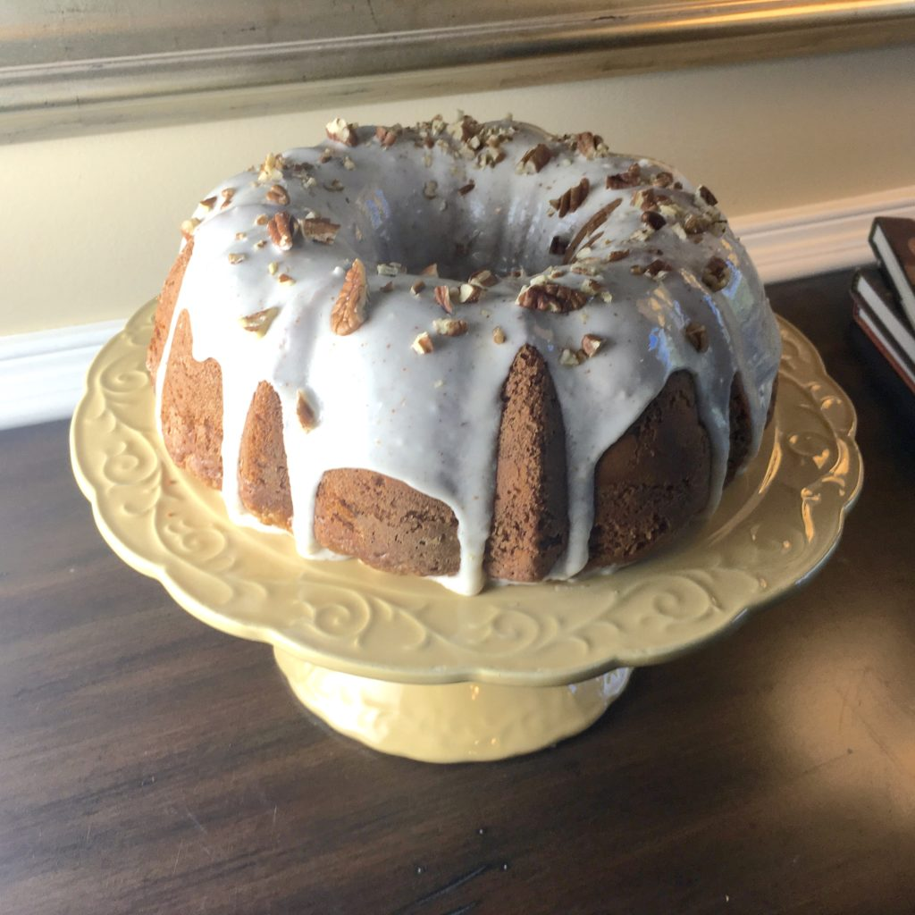 Apple Cream Cheese Bundt with Brown Butter Glaze