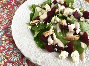 Scarlet Beet Salad with Toasted Pecan Viniagrette (Like Tupelo Honey Cafe)