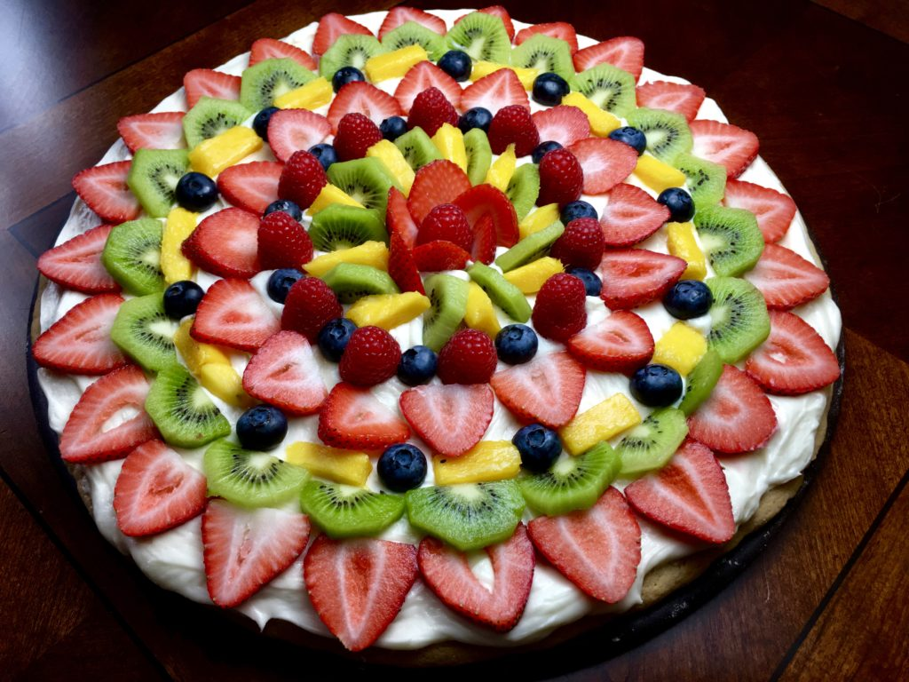 fruit pizza recipe high sugar fruits