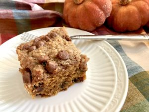 Pumpkin Chocolate Chip Streusel Cake