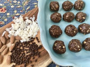 Almond Joy Protein Poppers