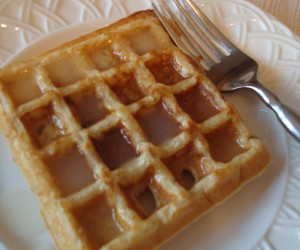 Whole Wheat Blender Waffles with Coconut Syrup