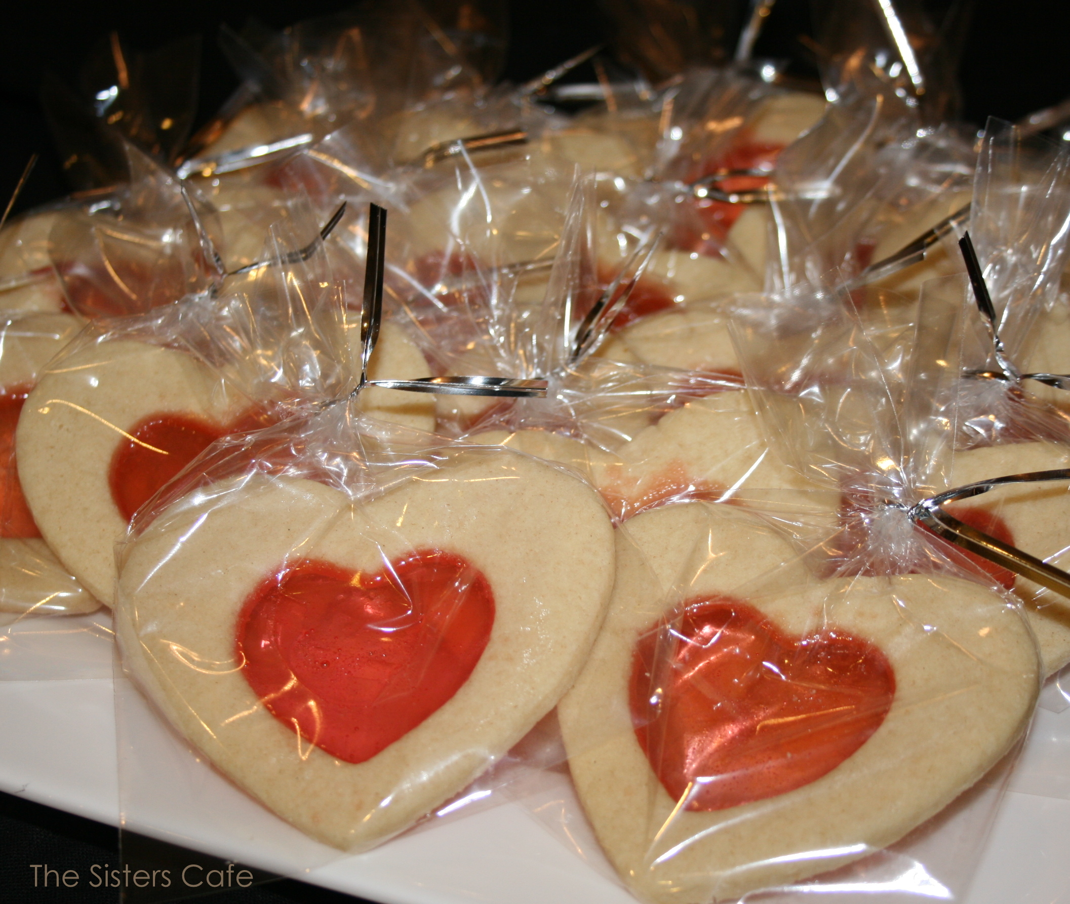 Valentines Stained-Glass Cookies