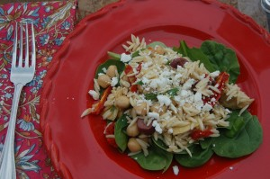 Mediterranean Orzo Salad and a Winner!