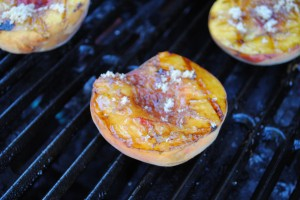 Grilled Peaches with Balsamic Brown Sugar Glaze