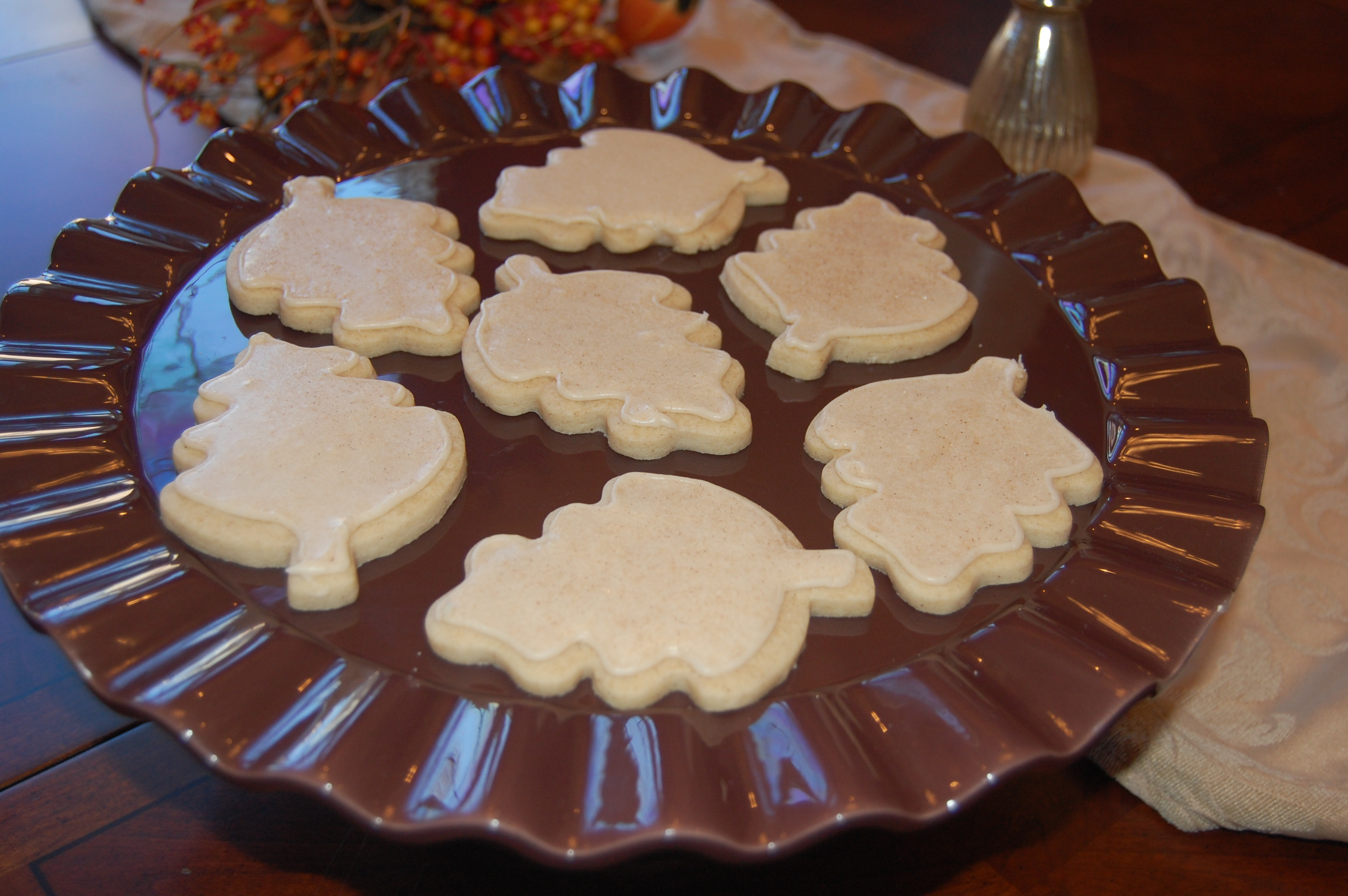 Spiced Shortbread With Brown Butter Icing