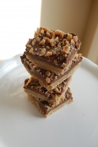 Oatmeal Peanut Butter Chocolate Toffee Bars