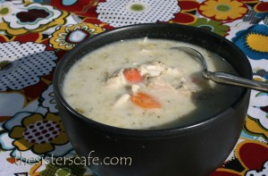 Broccoli Chicken and Swiss Soup