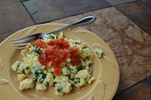 Spinach Eggs: A family favorite
