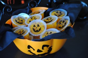 Jack O' Lantern Mandarin Orange Cups