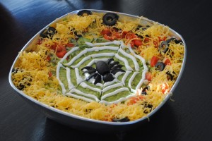 Spooky Spider's Nest 7-Layer {Plus} Dip