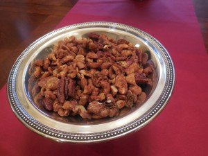 Chipotle and Rosemary Spiced Nuts