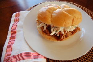 Pulled Pork with Cilantro Coleslaw