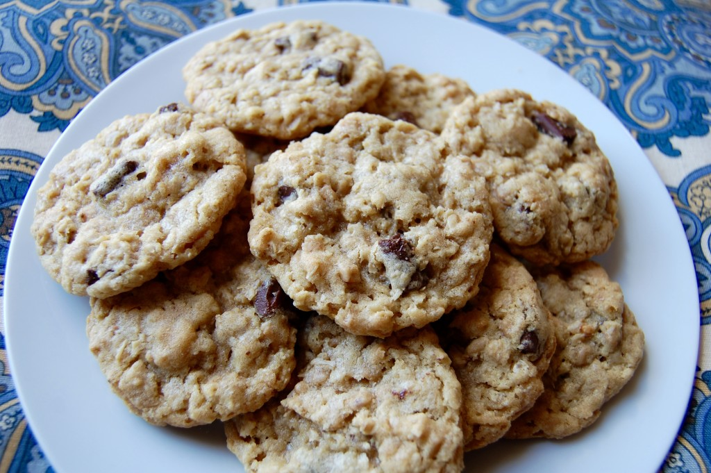Chocolate Chip Oatmeal Toffee Cookies