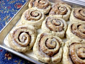 Quick Cinnamon Roll Biscuits (no rising time)