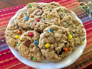 Chewy Peanut Butter Monster Cookies (flourless and easily gluten free)