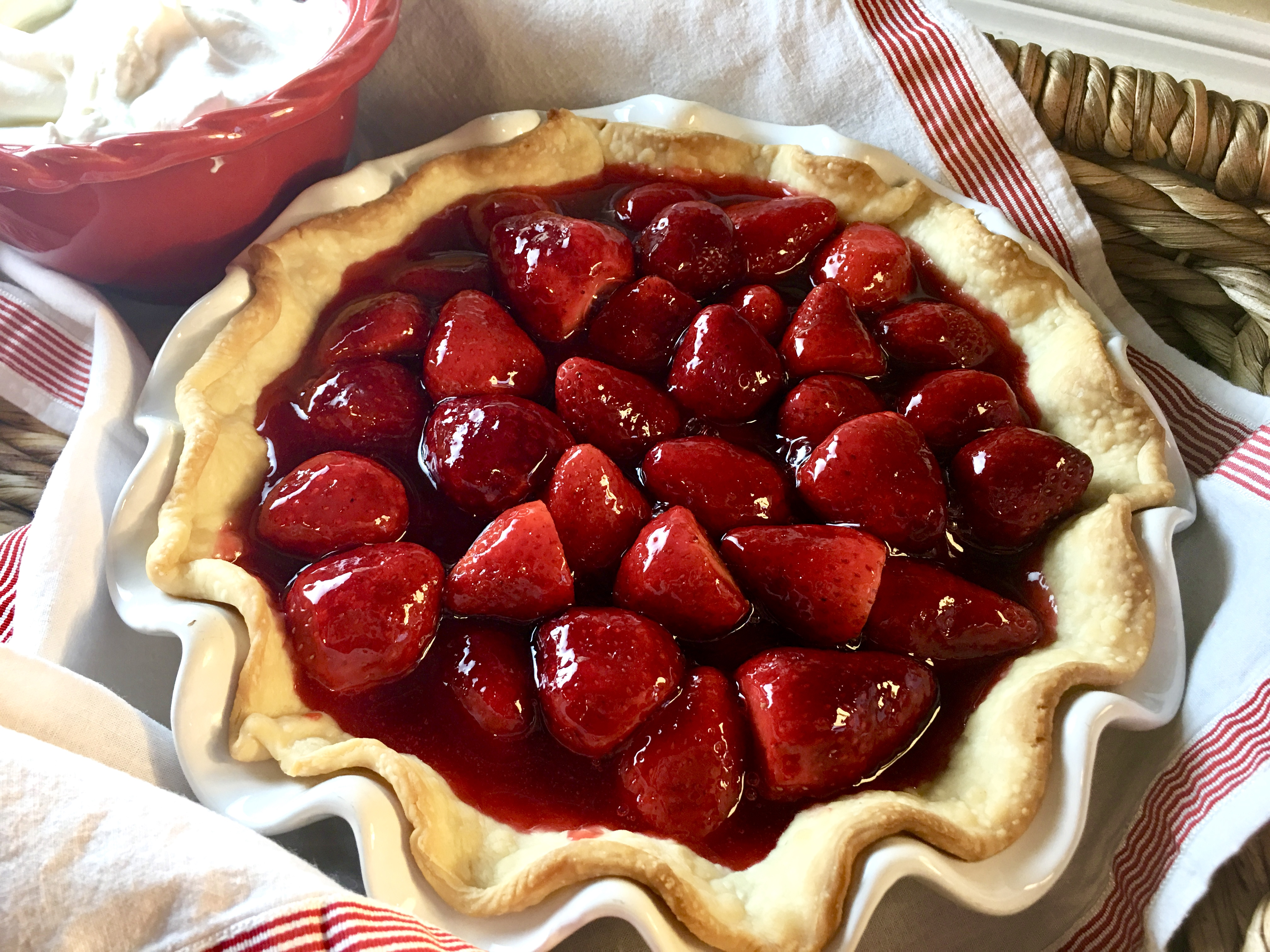 Easy Fresh Strawberry Pie Mel And Boys Kitchen