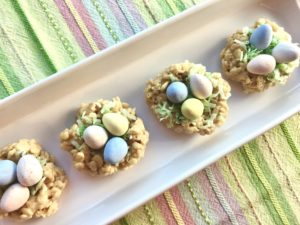 Easter Rice Krispy Nests