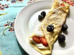 Creme Filled Crepes or 'Roll Up Pancakes'